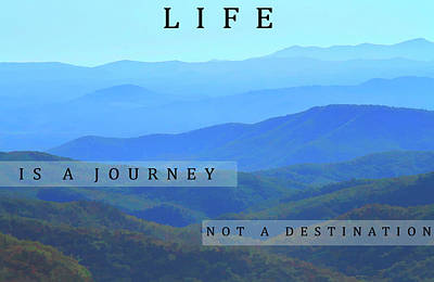 Mixed Media - Life Is A Journey by Dan Sproul