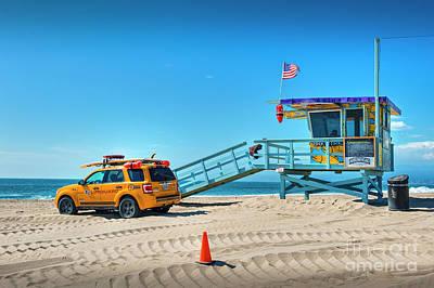 Photograph - Lifeguard On Duty by David Zanzinger