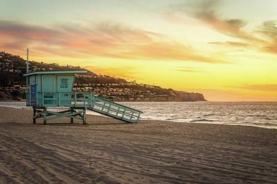 Redondo Beach Pier Wall Art - Photograph - Lifeguard Station At Sunset by Daniel Solomon