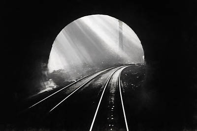 Digital Art - Light At The End Of The Tunnel by John Haldane