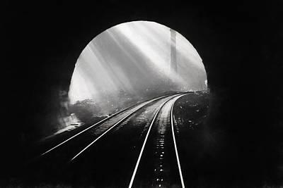 Digital Art - Light At The End Of The Tunnel by John Haldane