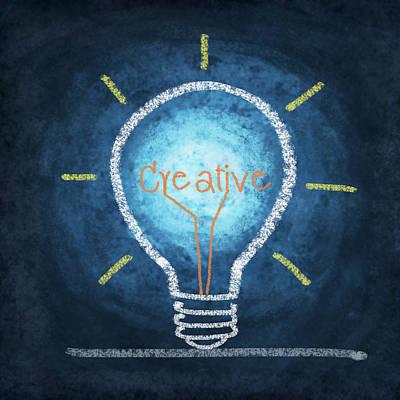 Light Bulb Design Art Print