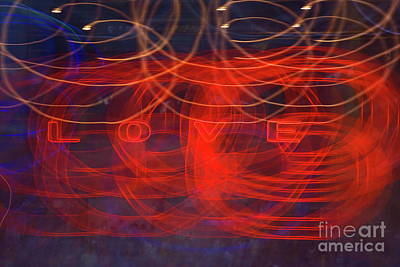 Photograph - Light Painting With Love by Yali Shi