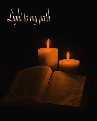 Christ Photograph - Light To My Path by Art Spectrum