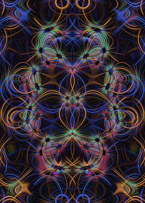 Digital Art - Light Trails 1 by Steve Ball