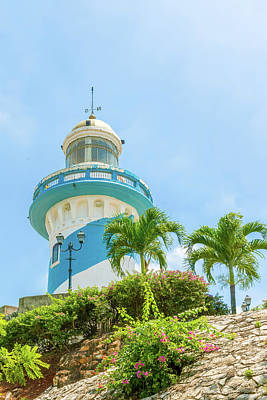 Photograph - Lighthouse At Santa Ana Hill, Guayaquil In Ecuador by Marek Poplawski