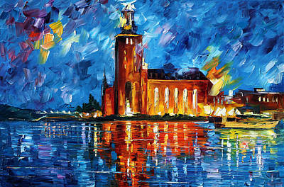 Lighthouse Oil Painting - Lighthouse by Leonid Afremov