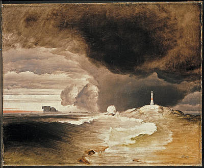 Lighthouse On The Norwegian Coast Art Print by Peder Balke