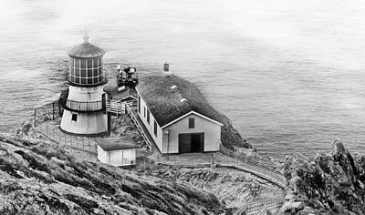 Photograph - Lighthouse On The Point by Mick Burkey