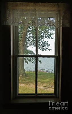 Photograph - Lighthouse Window View by Ann Horn