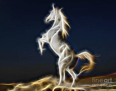 Art Horses Mixed Media - Lightning by Marvin Blaine