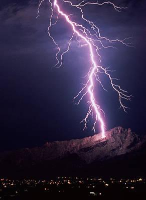 Lightning Bolt Photograph - Lightning Over Tucson by Keith Kent
