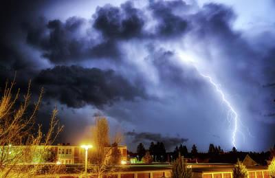 Lightning Photograph - Lightning Strike by Cat Connor