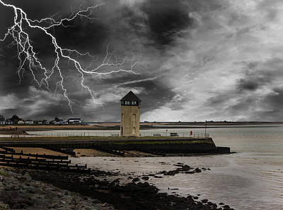 Lightning Strike Art Print by Martin Newman
