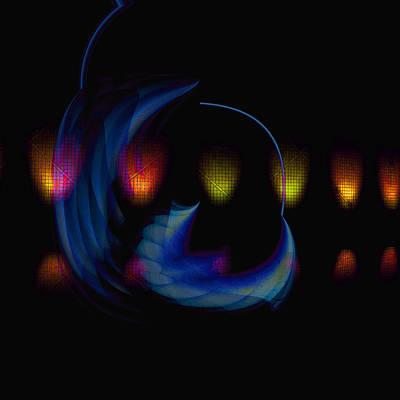 Digital Art - Lights-5 by Man Chong