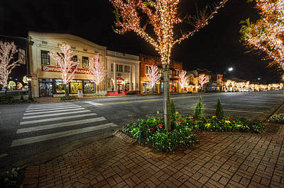 Photograph - Lights Of Fairhope Ave by Michael Thomas