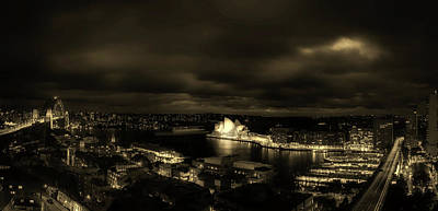 Light And Dark Photograph - Lights Of Sydney by Craig Hiron