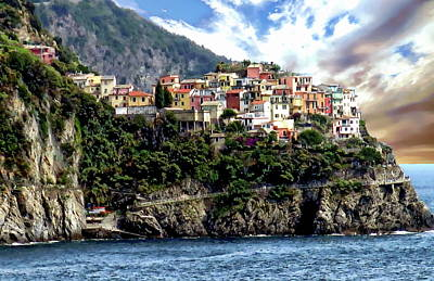 Photograph - Liguria Coastal View by Anthony Dezenzio