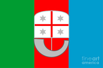 State Word Art - Liguria Flag by Frederick Holiday
