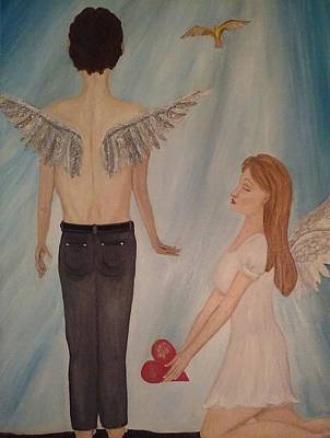 Oneself Painting - Like Never Before Songbird by Wendy Wunstell