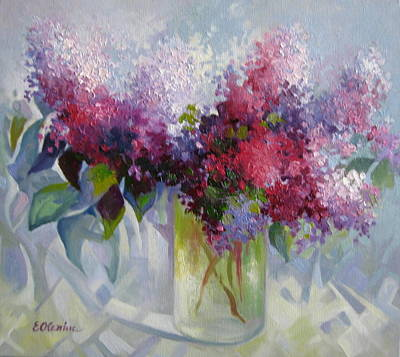 Painting - Lilac Flowers by Elena Oleniuc