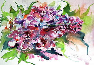 Painting - Lilac by Kovacs Anna Brigitta