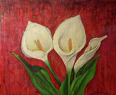 Mixed Media - Lilies by Sandra Wallace