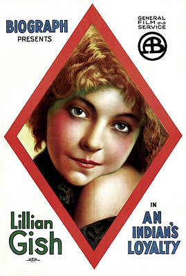Lillian Gish In An Indian's Loyalty 1913 Art Print by Mountain Dreams
