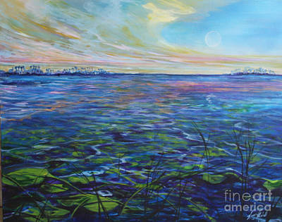 Lilly Pads  Art Print by Michele Hollister - for Nancy Asbell