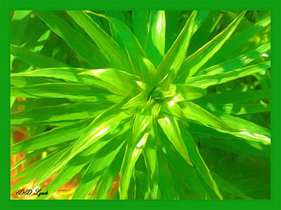 Lilies Mixed Media - Lily Before The Bloom by Debra Lynch