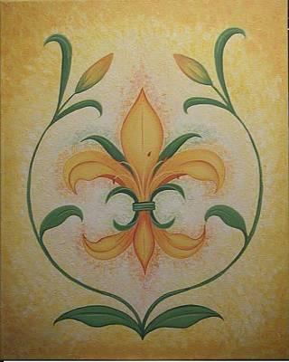 Fleur De Lis Drawing - Lily Flower by Valerie Carpenter