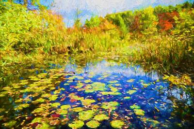 Bright Painting - Lily Pond by Lilia D