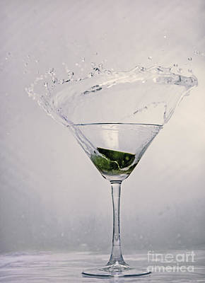 Wine Glass Photograph - Lime by Sebastien Coell