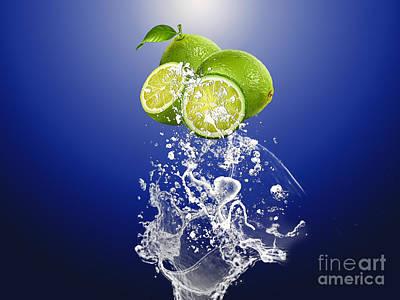 Fruit Mixed Media - Lime Splash by Marvin Blaine