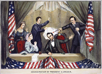 Photograph - Lincoln Assassination by Granger