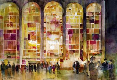 Lincoln Center Print by Dorrie Rifkin