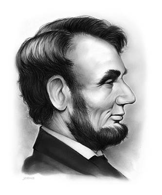 Emancipation Drawing - Lincoln by Greg Joens
