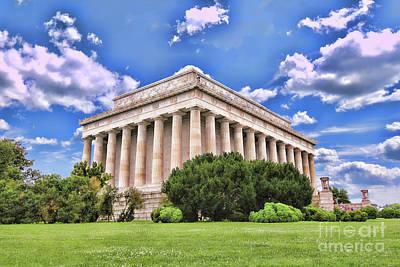Photograph - Lincoln Memorial by Allen Beatty