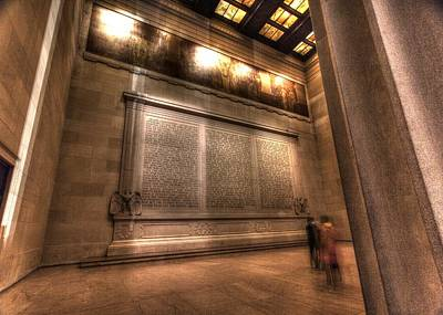 Photograph - Lincoln Memorial Interior Washington Dc by John King