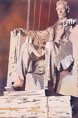 Painting - Lincoln Monument- Dc by Ryan Fox