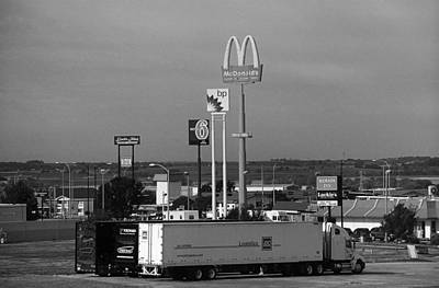 Photograph - American Interstate - Nebraska I-80 Bw by Frank Romeo