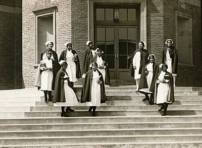 Negro Photograph - Lincoln School For Nurses by Underwood Archives