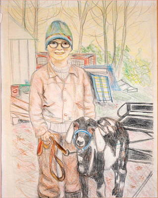 Best Sellers - Still Life Drawings - Linda and Stinky by Sarah Hamilton