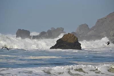 Photograph - Linda Mar Beach - Big Waves by Dean Ferreira