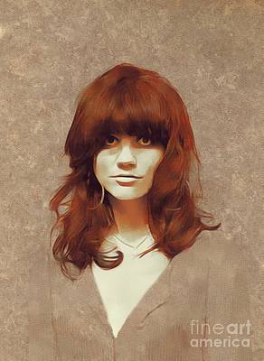Music Painting Rights Managed Images - Linda Ronstadt, Music Legend Royalty-Free Image by Esoterica Art Agency