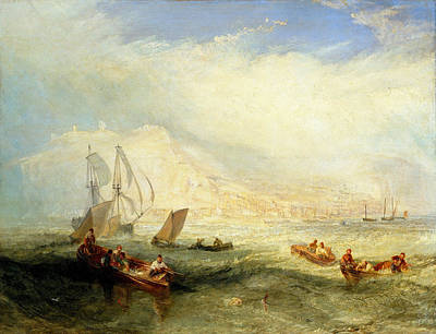 Painting - Line Fishing. Off Hastings by Joseph Mallord William Turner