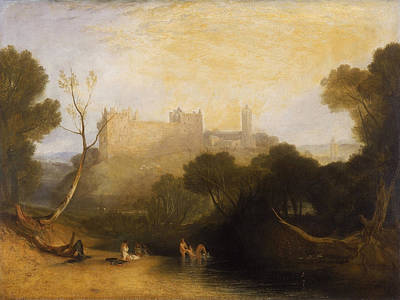 Bathing Painting - Linlithgow Palace by JMW Turner
