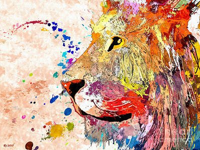 Mixed Media - Lion by Daniel Janda