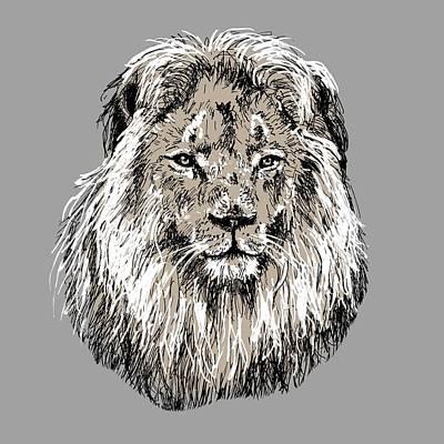 Painting - Lion by Masha Batkova