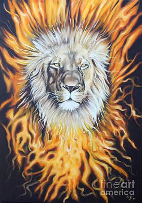 Judah Painting - Lion Of Judah by Ilse Kleyn
